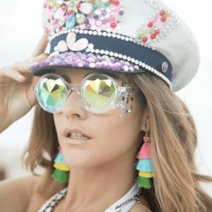 statement sunglasses at tomorrowland