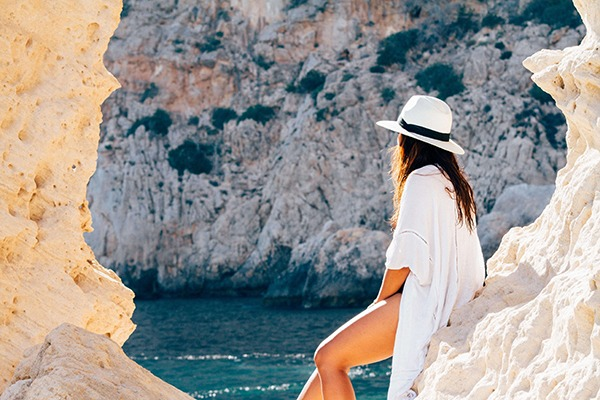 adventure-back-girl-cave-sea-ocean-rocks