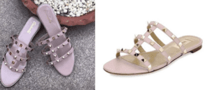 CinderellaShoetique_Valentino_Flats_GoldStudded_Sandal_Plagarism_Insperation_Shopping_Brand_Fashion