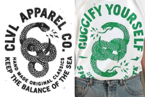 Gucci_StuartSmythe_Tshirt_Snake_Logo_Plagarism_Insperation_Shopping_Brand_Fashion