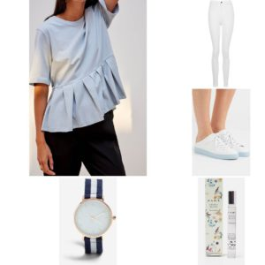 Outfit_summer_white_jeans_sneakers_top