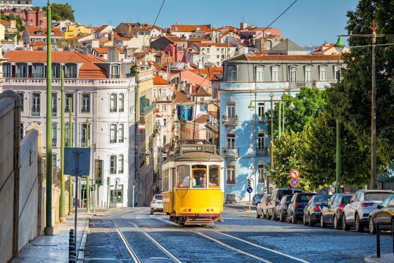 lisbon, tram, lisbon tram