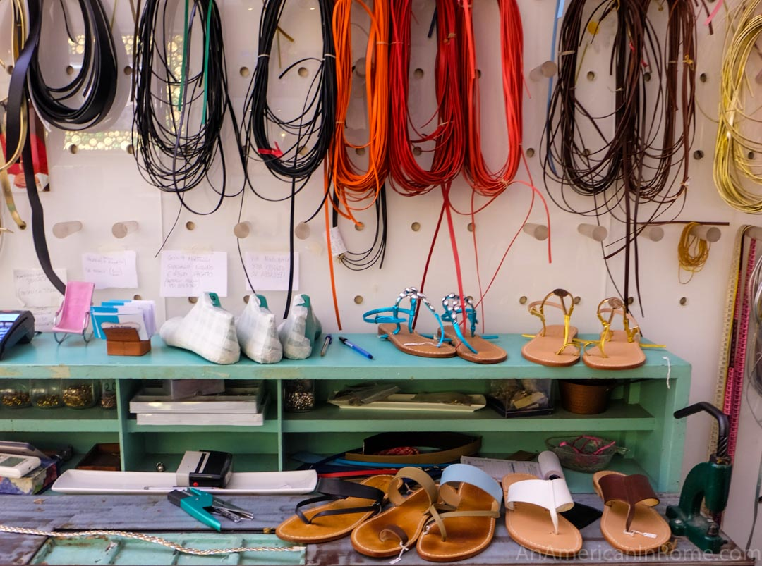 Rome's best boutiques, Di San Giacomo, sandals, handmade sandals, customized sandals, Di San Giacomo rome, rome, shopping in rome