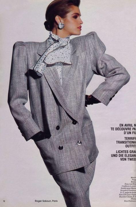 European fashion, power dressing, 1980s