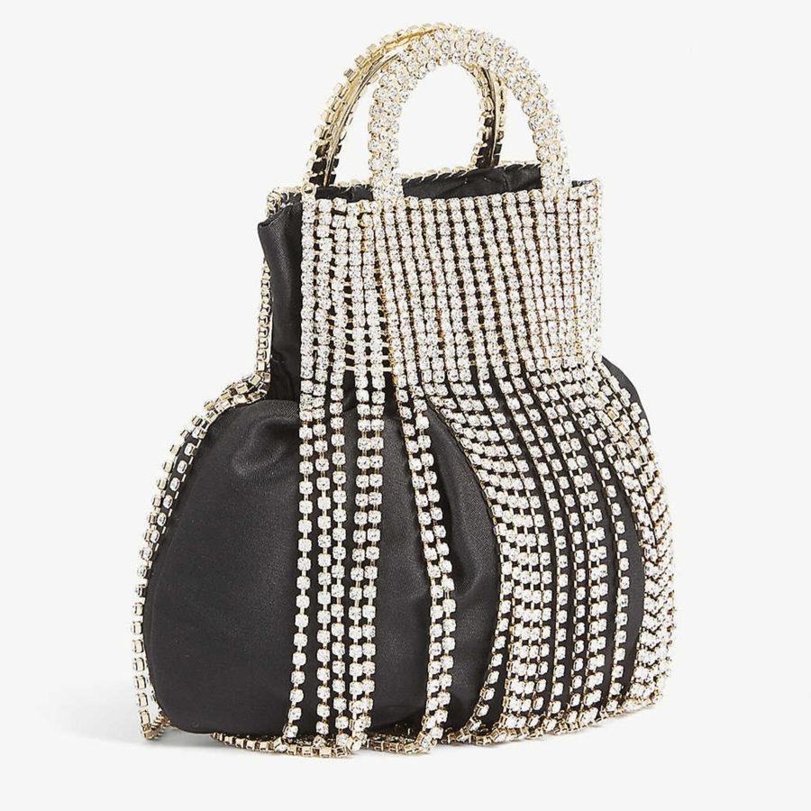 Follie Fringes Black Diamond Clutch
